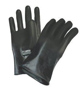 "North Butyl Gloves 16 mil, 11"" Smooth Finish Glove"