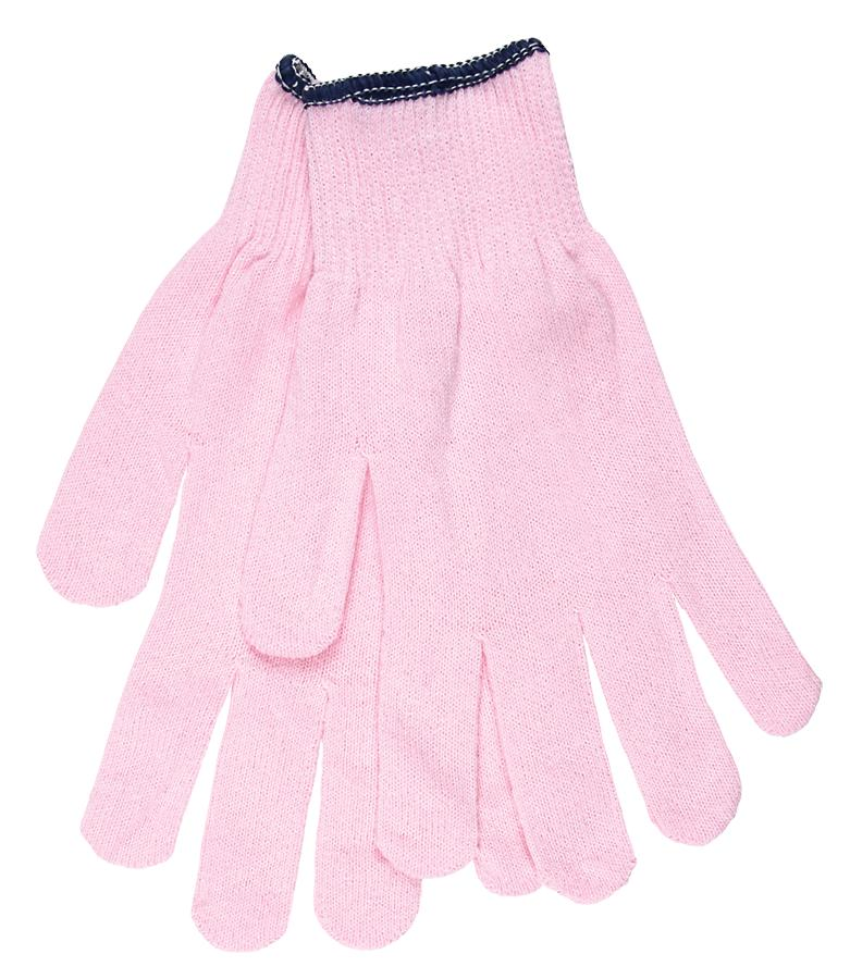 13 Gauge Cotton/ Polyster Gloves for breast cancer awareness