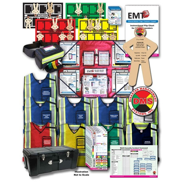 MCI Tabletop Training Kit Optimized for EMT3 Disaster Management Systems, MCI Tabletop Training Kit Optimized for EMT3, DMS-05817