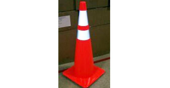 Bright Traffic Cone With Reflective Collar Accuform, Bright Traffic Cone With Reflective Collar, FBC225, FBC226
